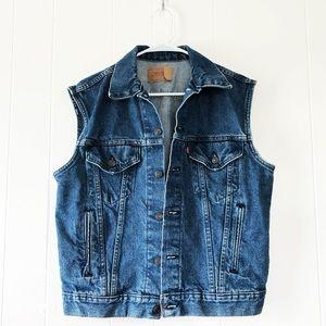 Vintage Levi's Medium Wash Denim Jean Vest